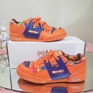 Reebok orange/multicolor women sneakers size 5.5